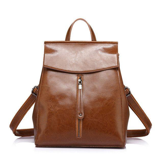 2de24dd27 REALER brand fashion women high quality cow split leather backpacks ladies  shoulder bags female school bag for teenage girl 2017