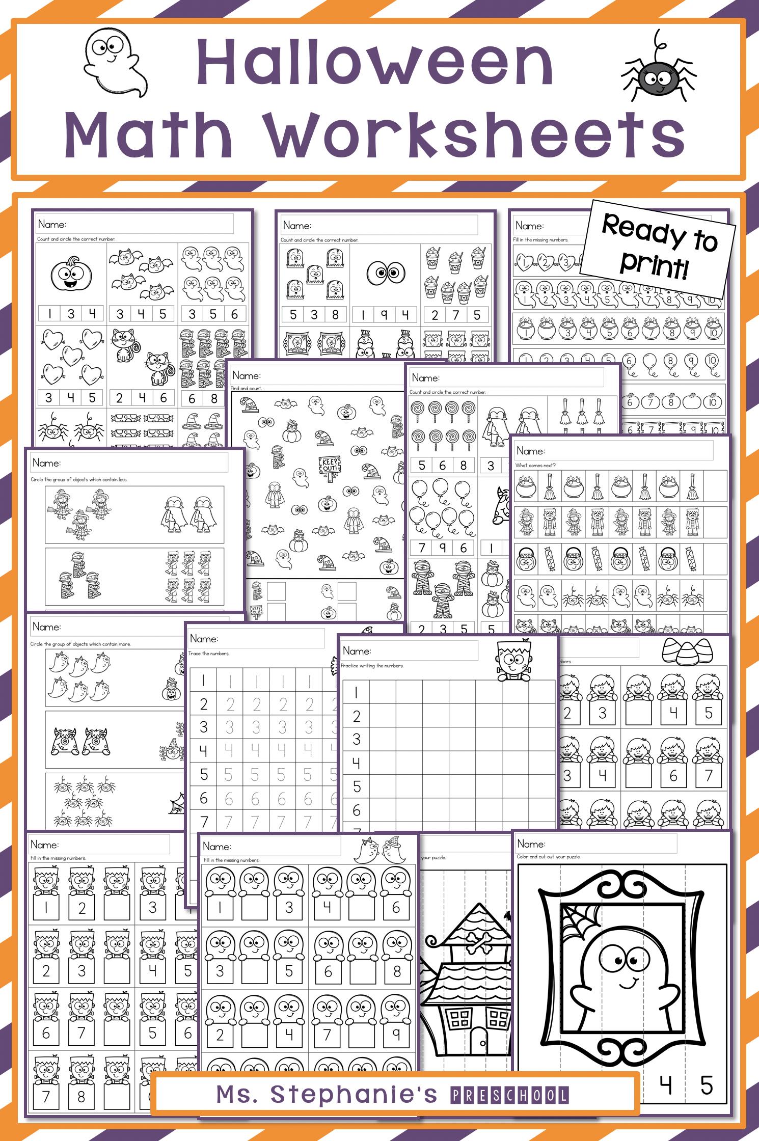Halloween Preschool Math Worksheets Halloween Preschool Preschool Math Worksheets Math Worksheets [ 2240 x 1490 Pixel ]