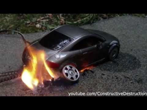 Rc Car Burnout Ends In Flames Youtube With Images Rc Cars