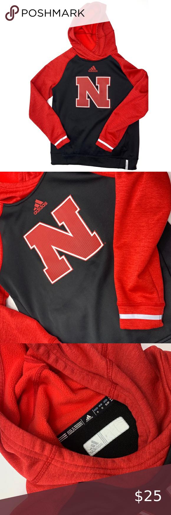 Adidas N Nebraska Red Black Hooded Sweatshirt Black Hooded Sweatshirt Hooded Sweatshirts Sweatshirts [ 1740 x 580 Pixel ]