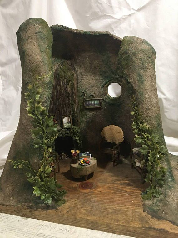 Faery House With Furniture Fairy House Handmade By