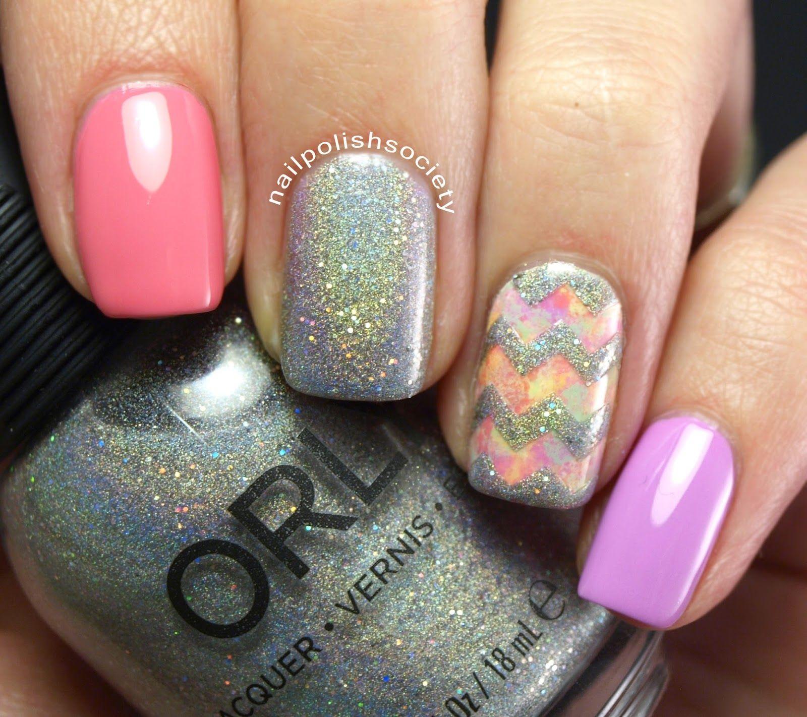 Orly Mirrorball Springtime Skittle | Purple nail, Nail nail and Hair ...