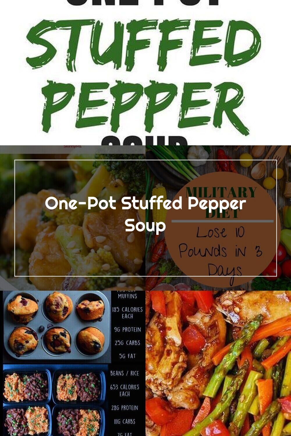 One Pot Stuffed Pepper Soup Healthy And Low Calorie Recipe Super Simple Di 2020