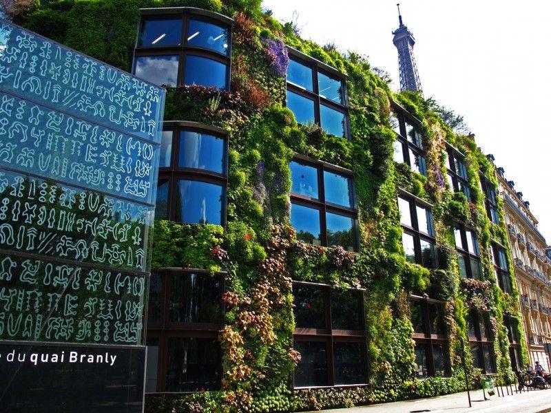 Les plus beaux murs v g taux de la capitale id es balade pinterest mus e quai branly quai - Immeuble vegetal ...