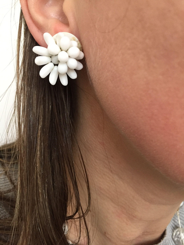 Vintage 1950s Clip On Earrings West Germany
