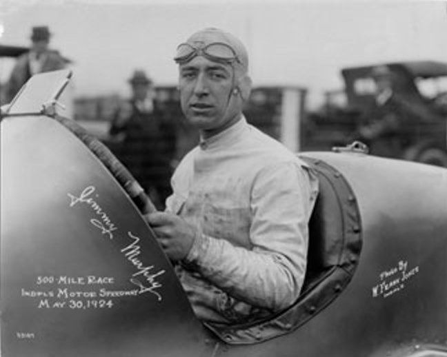 1924 Jimmy Murphy at his last Indy 500 Race, sadly he was killed in a crash later in the year on a dirt track in Syracuse, NY.