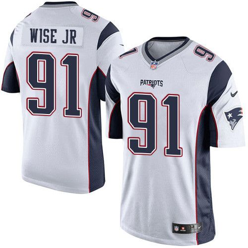 de15d8ea2 Youth Nike New England Patriots  91 Deatrich Wise Jr Limited White NFL  Jersey
