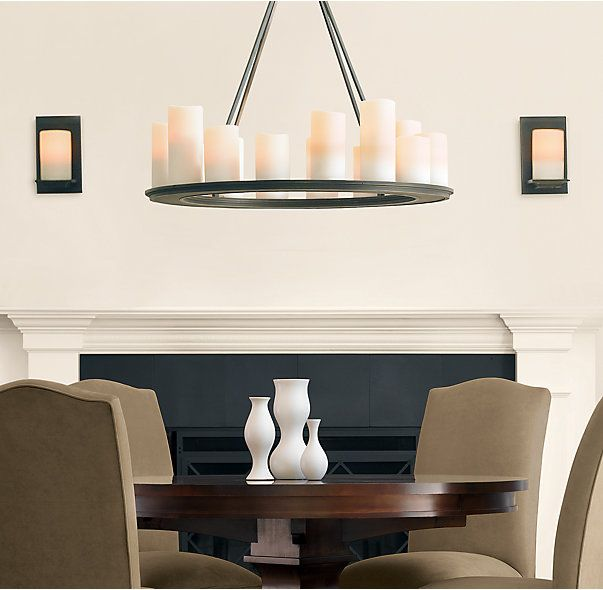 Pillar candle round chandelier 32 lighting pinterest round pillar candle round chandelier 32 aloadofball Images