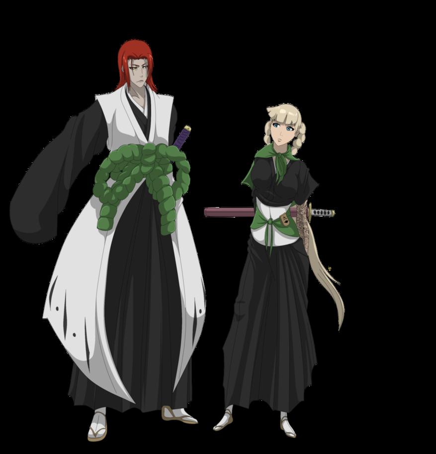 Bleach Oc Hakugin Jin By Sarzill On Deviantart: Kenpachi Akira And Teiji Nemari By AlucardeKiyoshi