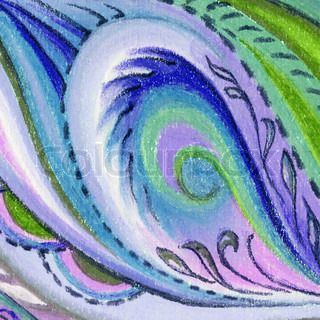 Abstract artistic background Picture, pastel, hand-draw on paper