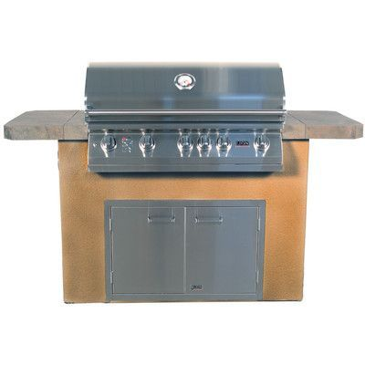 Performance Series 4 Burner Grill Tile Countertops Grilling