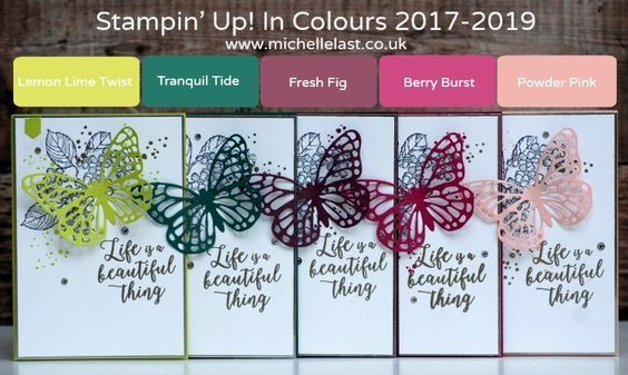New Stampin' Up In Colours 2017-2019