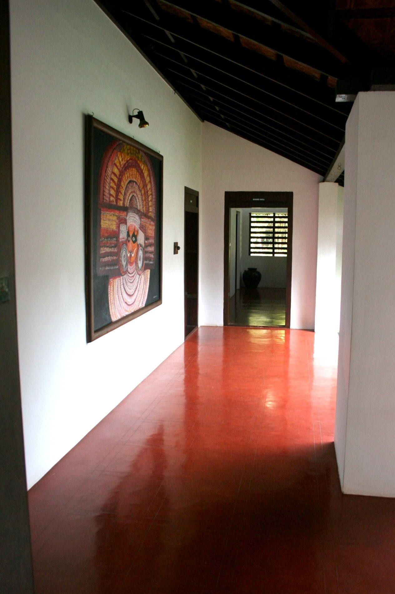 Red Oxide Flooring Traditional Indian Homes Home