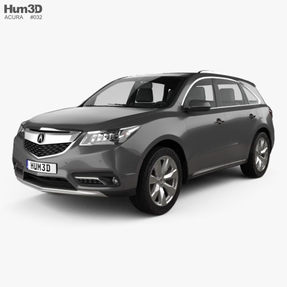 Acura MDX RU-spec 2014. Fully Editable And Reusable 3D