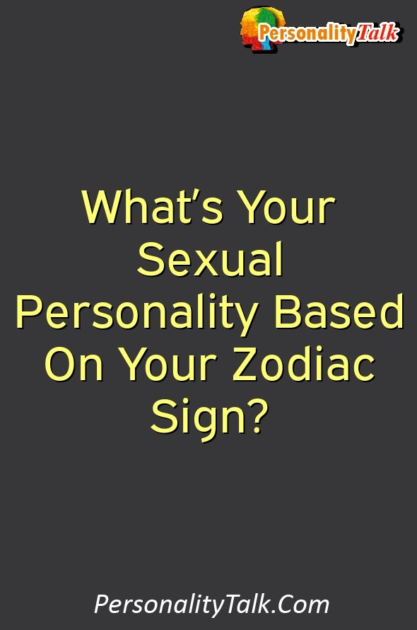 Sexuality based on zodiac signs