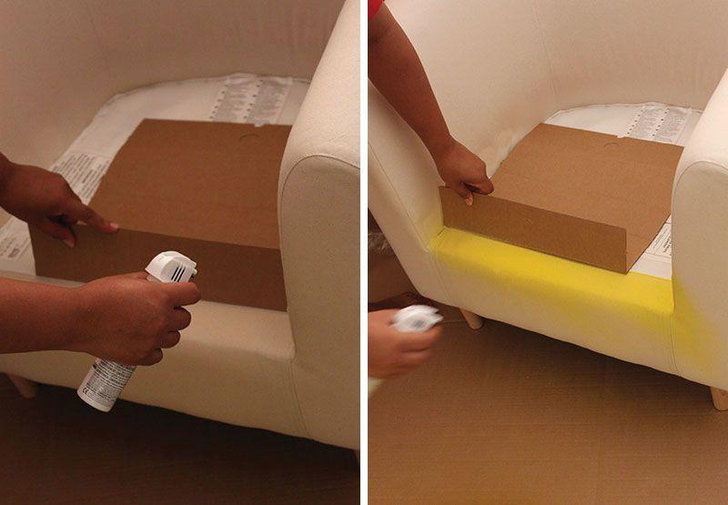 Ikea hack painted upholstery paint upholstery ikea