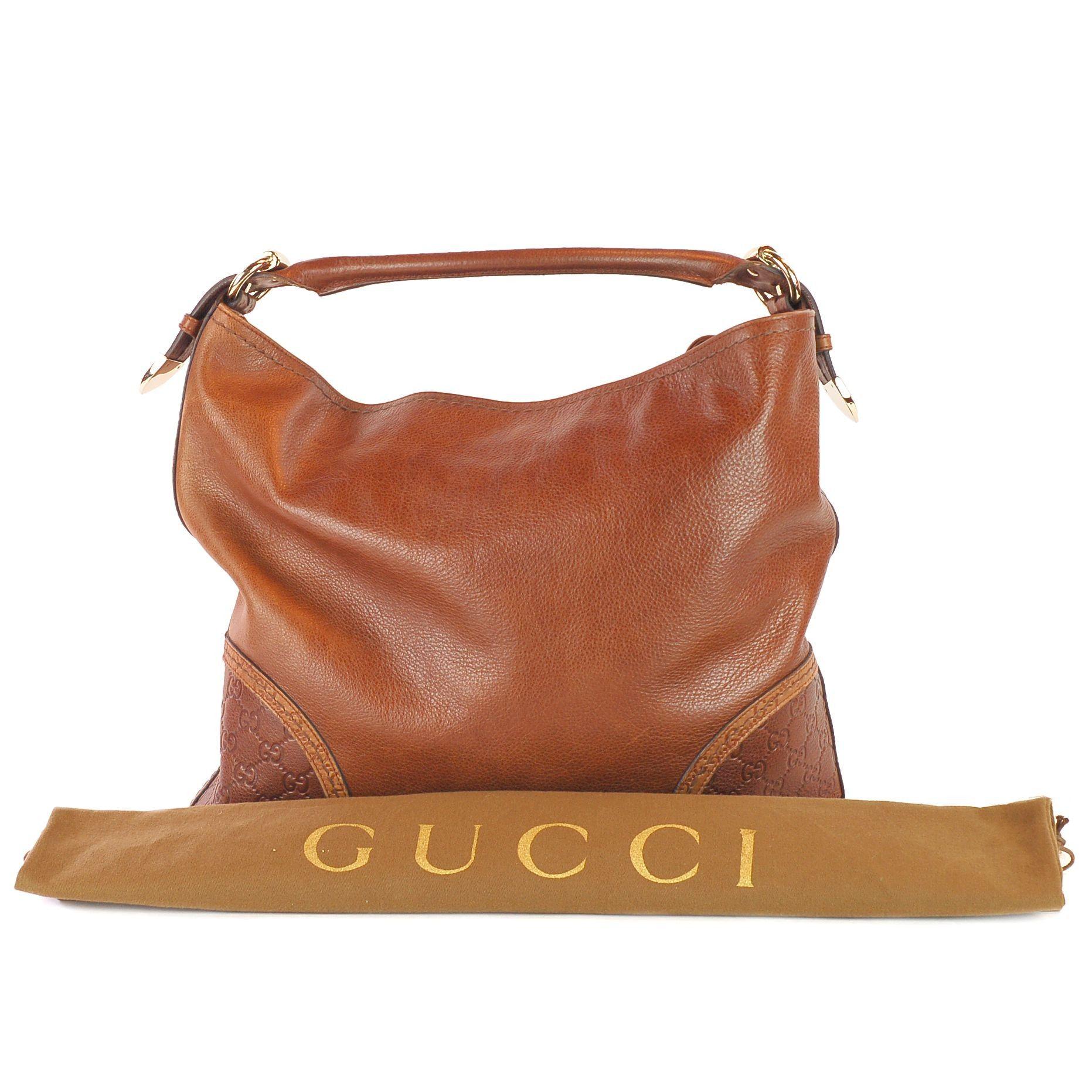 01c8e083e4241c GUCCI Leather Guccissima Trim Large Signoria Hobo | Antique/Vintage ...