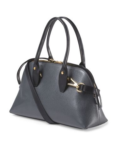 Made In Italy Leather Bugatti Satchel