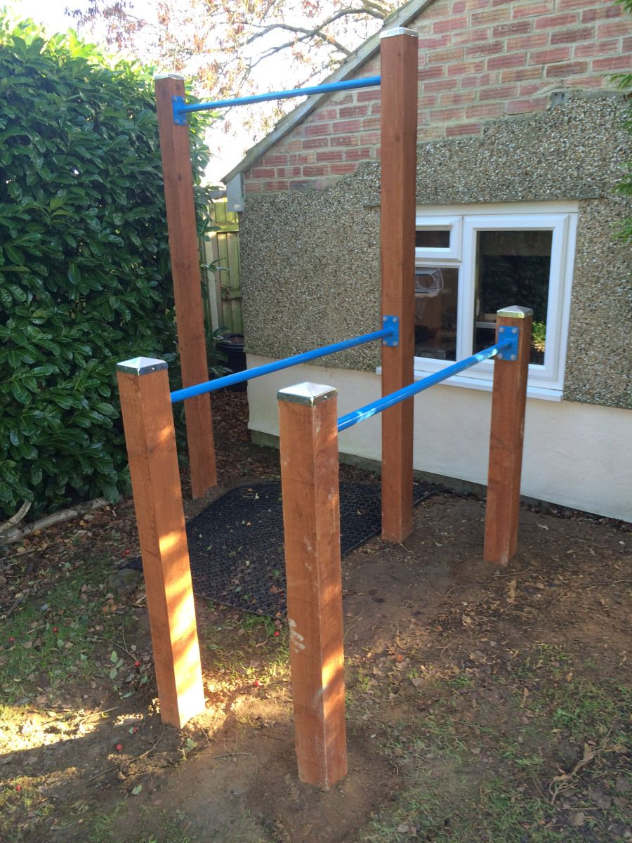 i built a gym in my garden right outside my office indoor