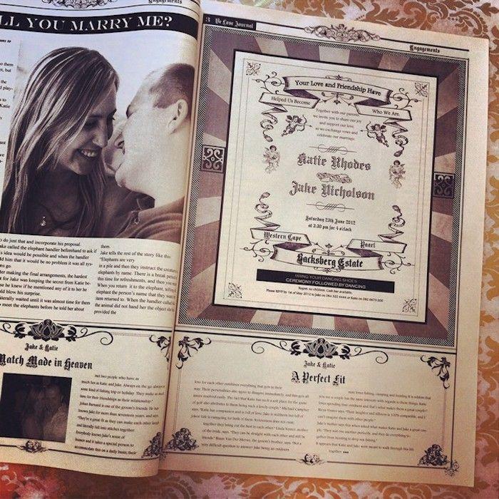 Hochzeitszeitung Beispiele Von Heiratsantrag Bis Zur Einladungskarte Dargestellt Hochzeitszeitung Hochzeitszeitung Ideen Hochzeitseinladung