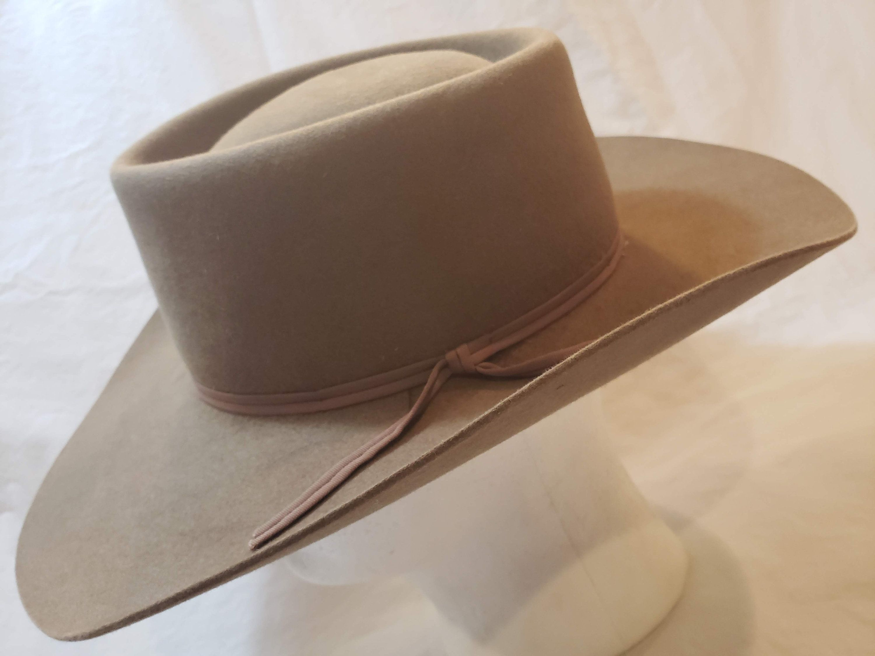 Vintage Beaver Hats 10x Quality Taupe Brown Fur Felt Western Hat Size 7 1 8 Beaver Hat Western Hats Hat Sizes