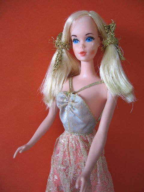 B393 Alte Vintage Party Time Barbie 9925 Mattel 1971 Original