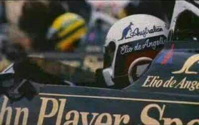 1985 San Marino GP, Imola : The winner Elio de Angelis (Lotus 97T) in the grid 3 behind his teammate Ayrton Senna (Lotus 97T) and Keke Rosberg (Williams FW10). (ph: © Sutton)