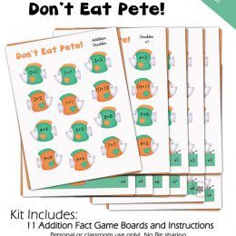 FREE Don't Eat Pete Addition Printables