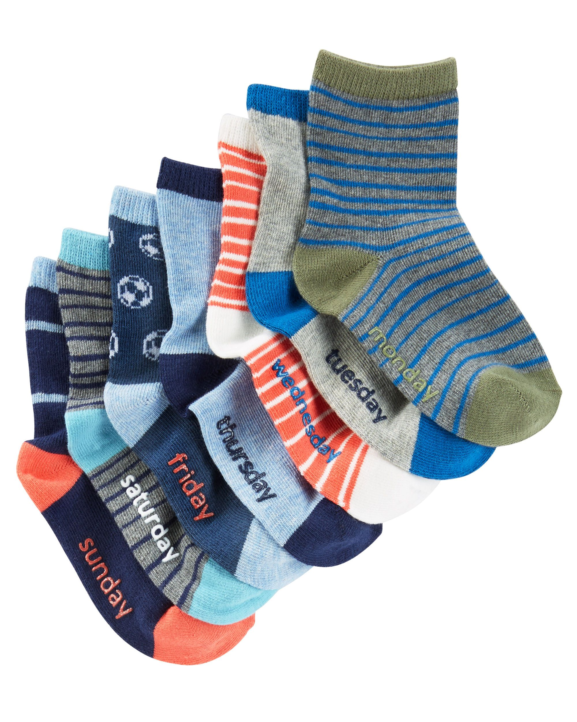 7 Pack Weekday Crew Socks