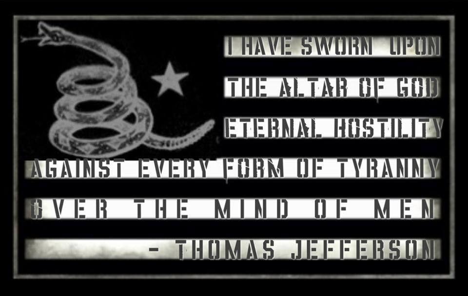 I have sworn....