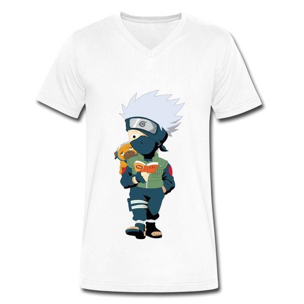 Naruto Characters White Custom Made T-Shirt