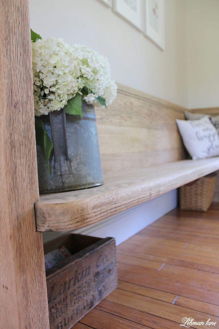 Church pew makeover for our farmhouse blar pinterest home