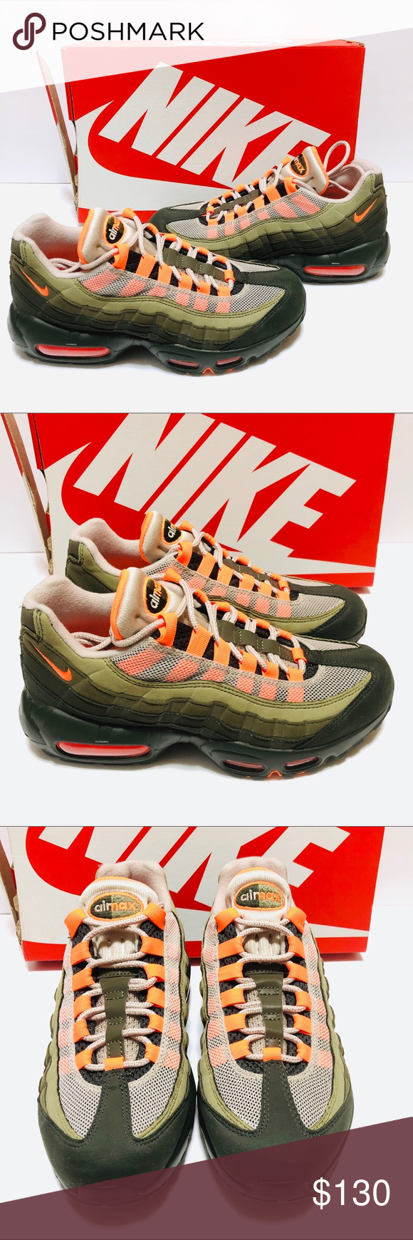 orange and green air max 95