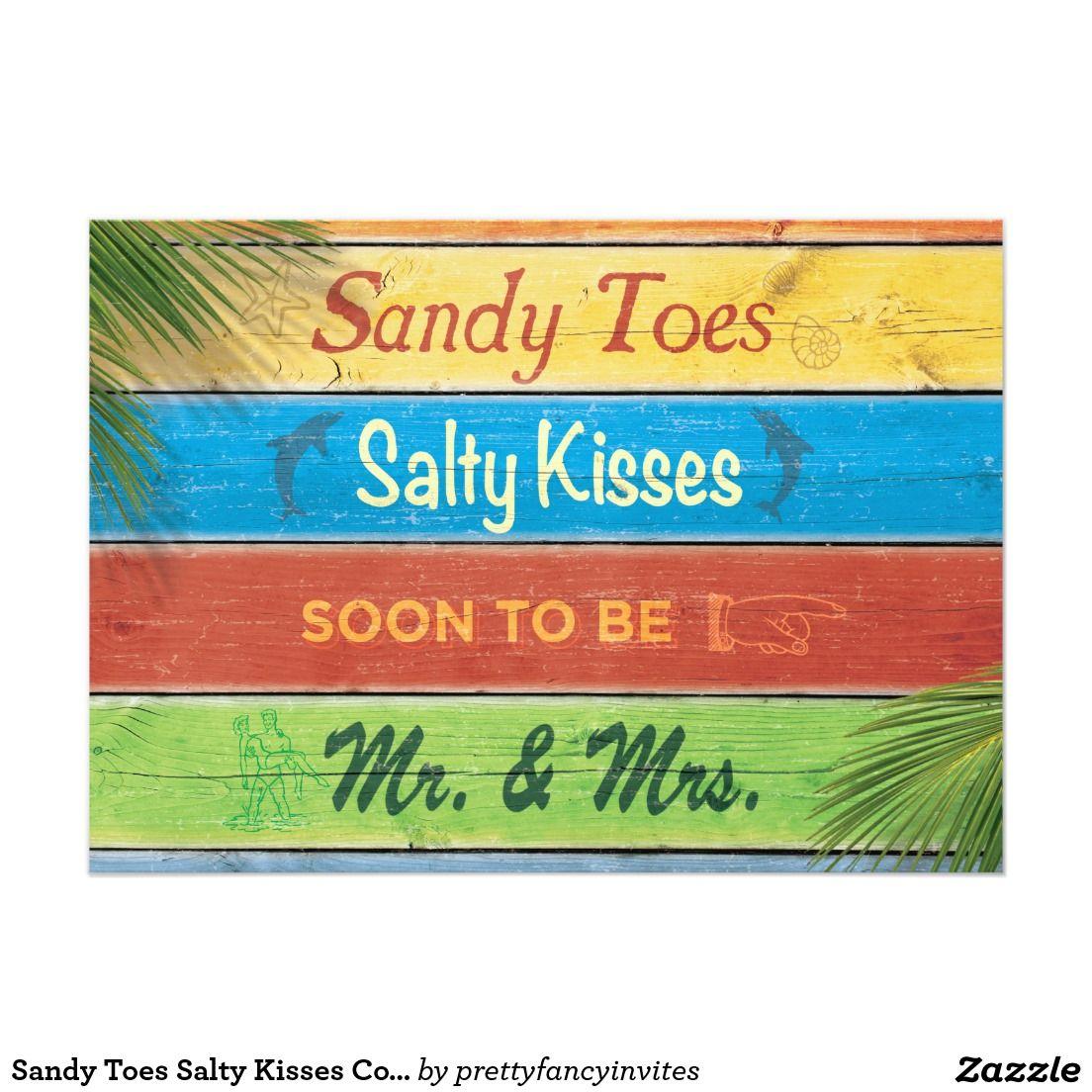 Sandy Toes Salty Kisses Couple S Shower Invitation Destination