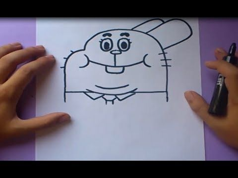 Como dibujar a Gumball paso a paso  El asombroso mundo de Gumball