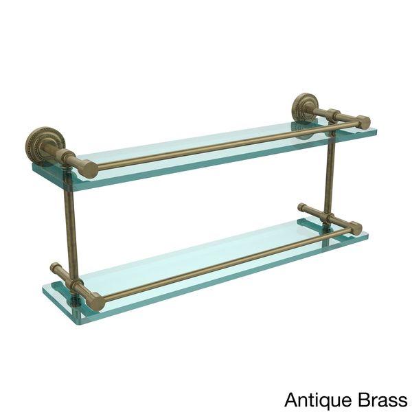 Allied Brass Dottingham 22-inch Double Glass Shelf with Gallery Rail ...