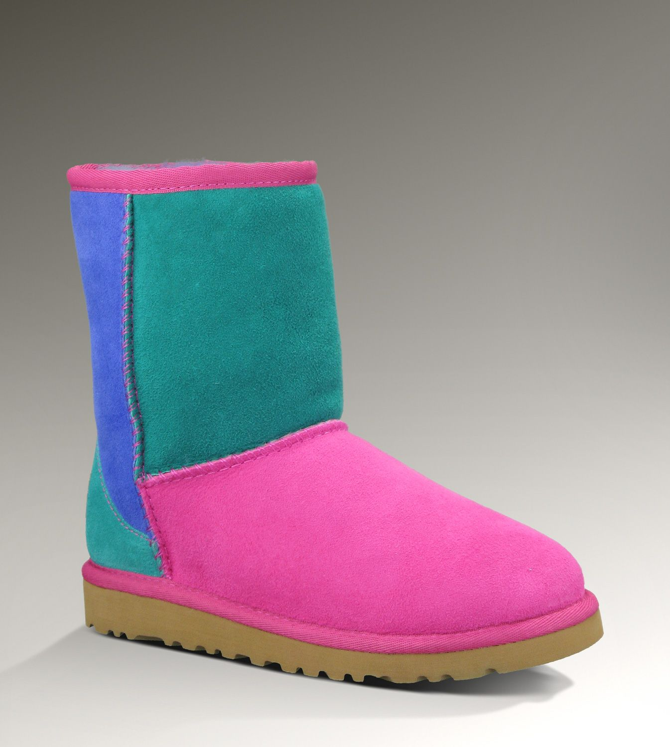 UGG® Classic Patchwork for Kids | Colorful Rainbow Sheepskin