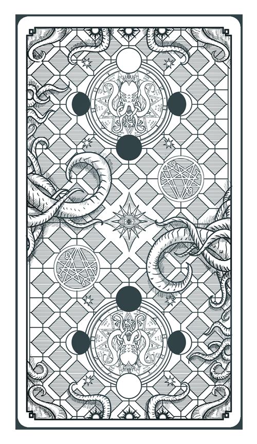 Tarot Card Back The Sephirot of the Mythos Cthulhu