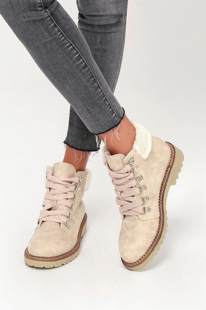 CASBAH CREAM LACE-UP ANKLE BOOTS | Lace