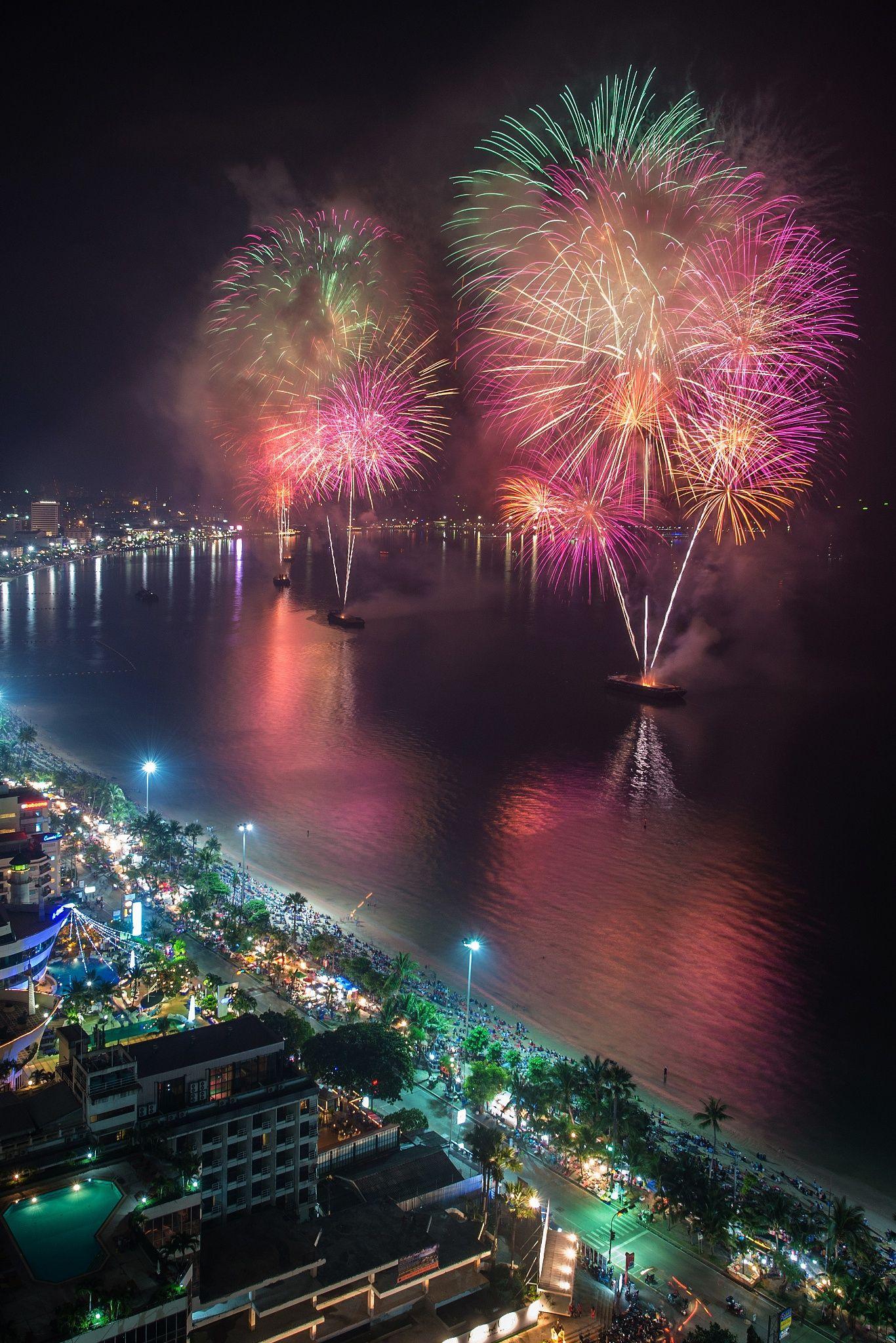 ˚Pattaya International Firework 2012 Thailand Thailand
