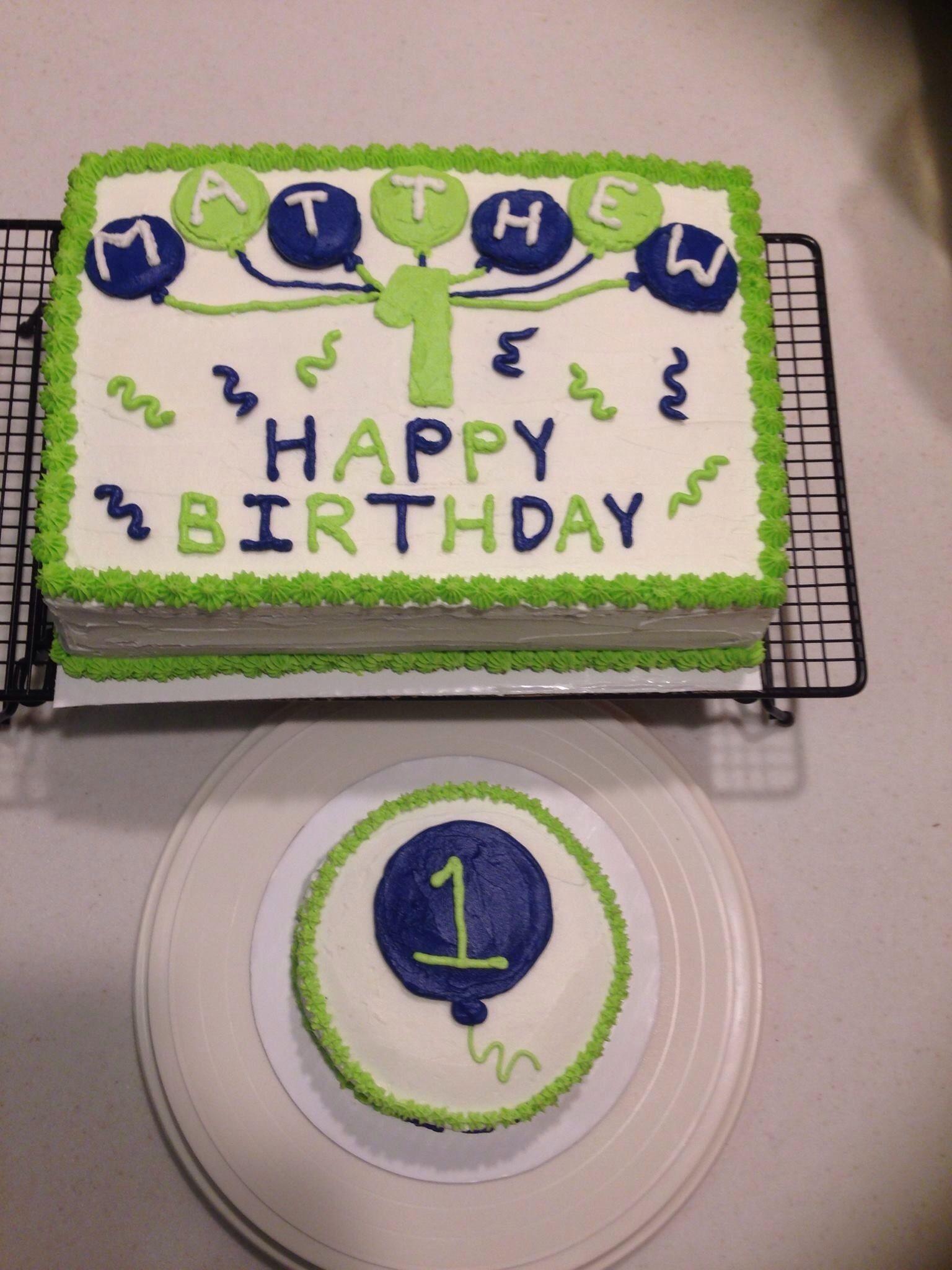 1st Birthday Cake Set Simple Design W Smash Cake My Cakes Candi