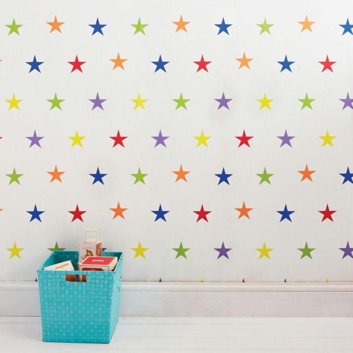 Tapete kinderzimmer sterne  Tapete Kinderzimmer - Groß und Klein verliebt sich in solche Wände ...