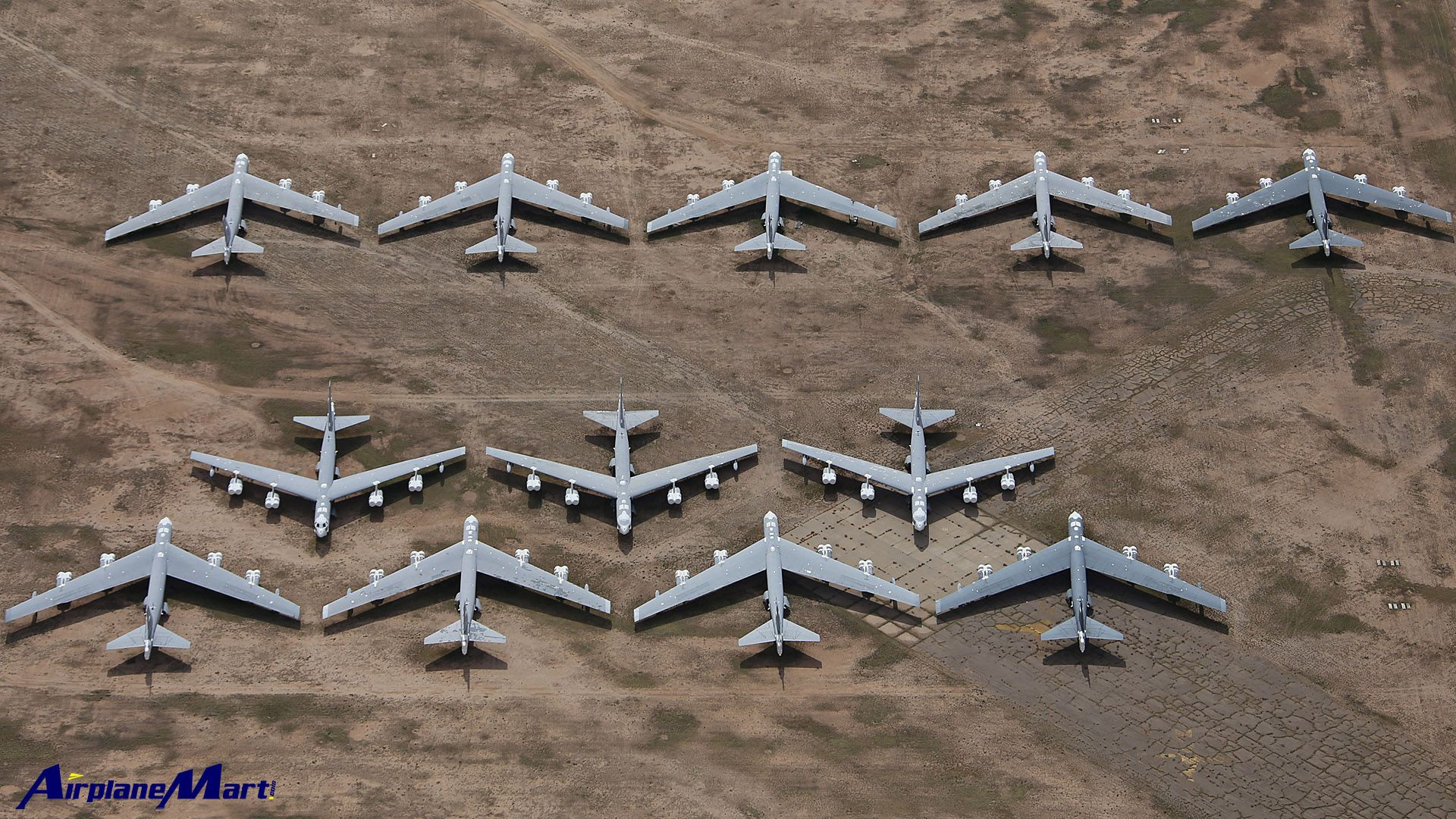 Mothballed Boeing B 52 S Stratofortress Davis Monthan Air Force