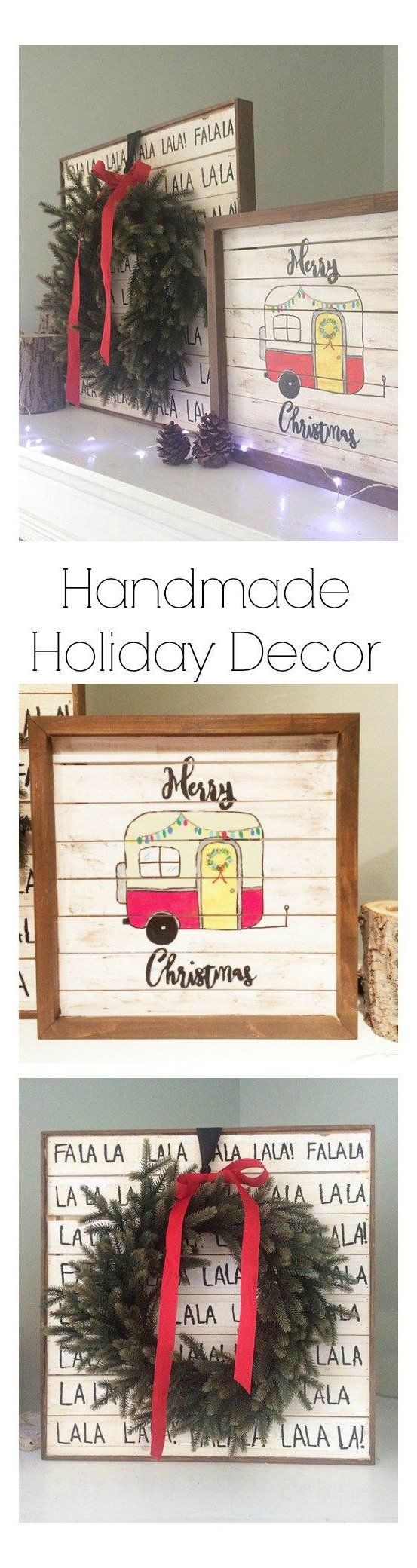 Holiday Home Decor – Pallet wood signs #holidaydecorations