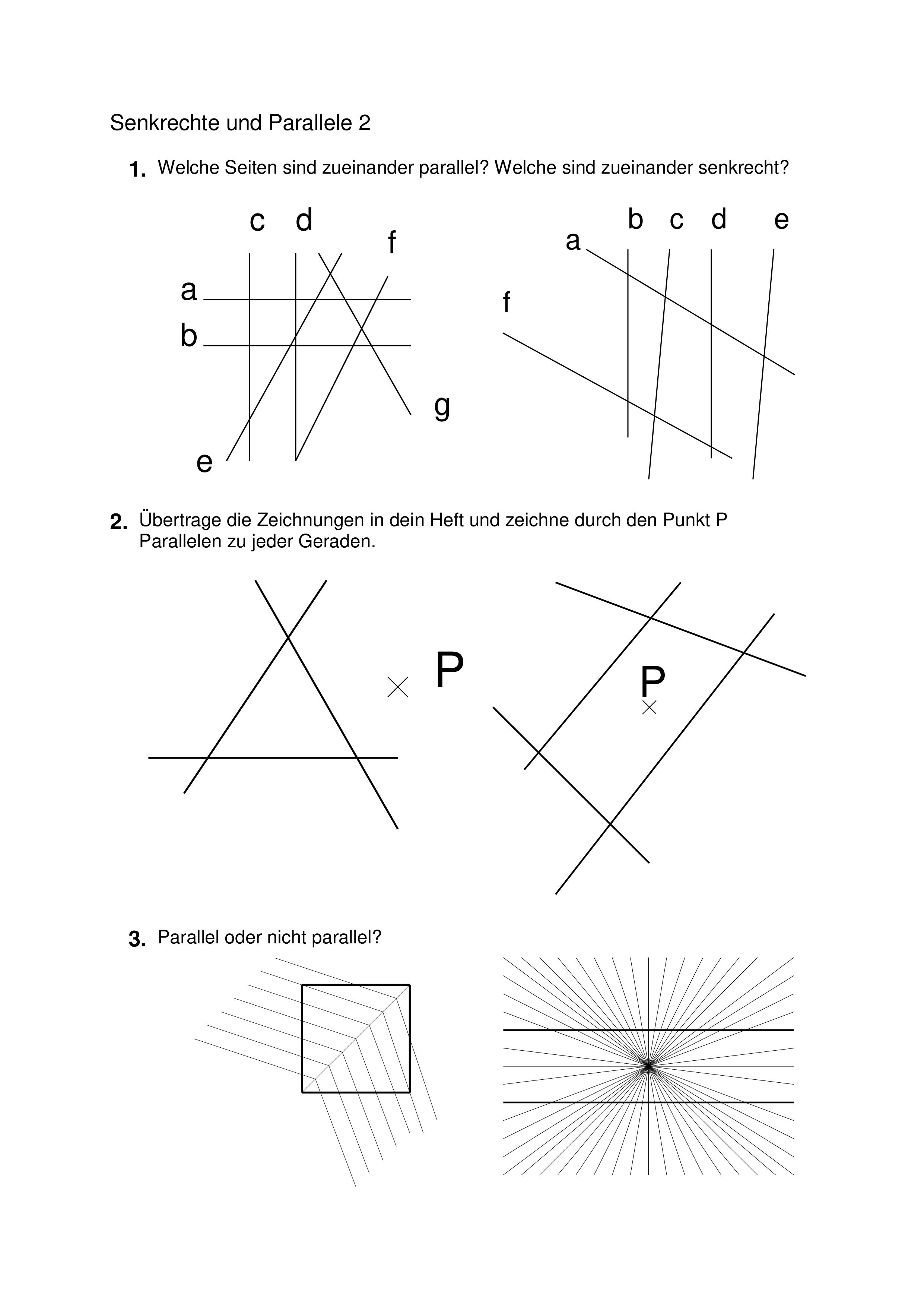 Geometrie   Klasse 20/20   senkrecht und parallel ...
