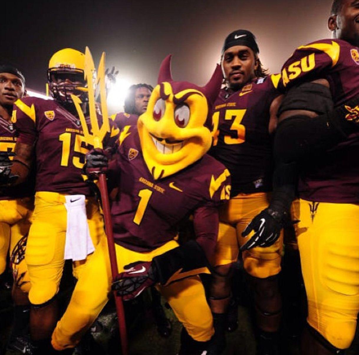 Sparky And His Sun Devils Asu Football Arizona State University