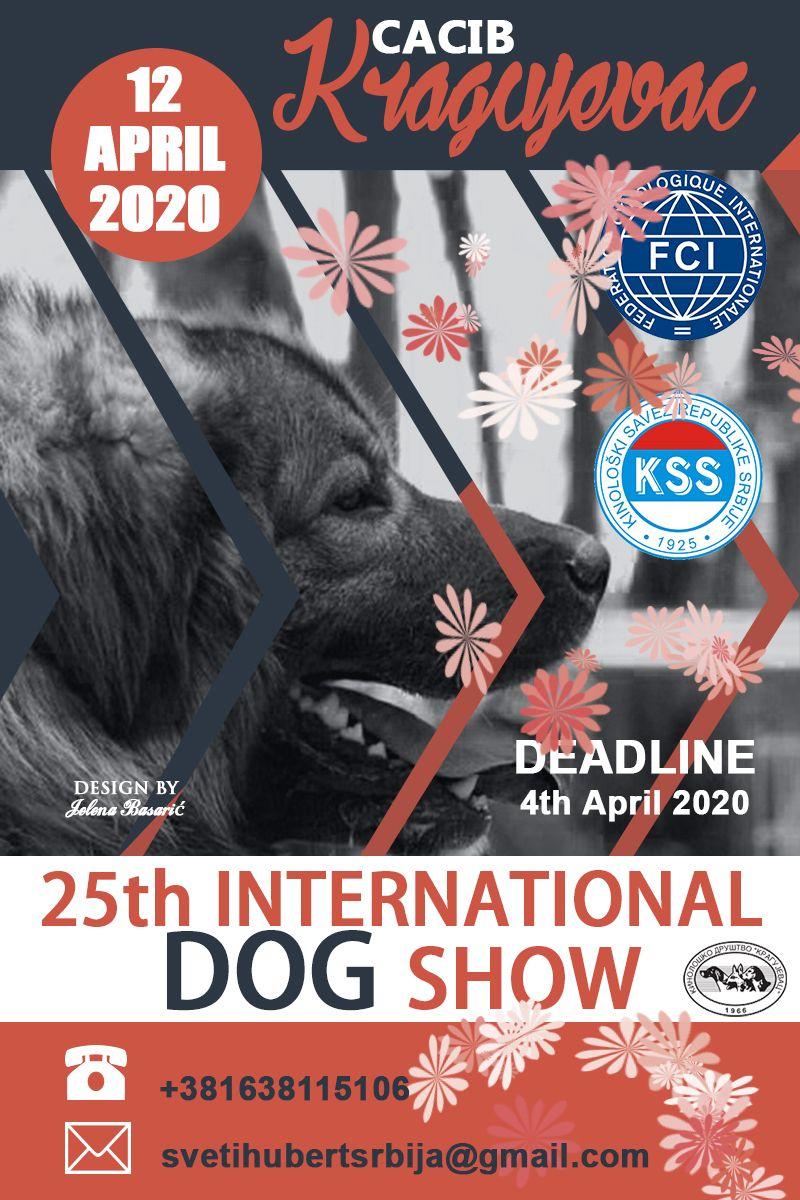 25th International Dog Show Cacib Kragujevac Serbia 12 April