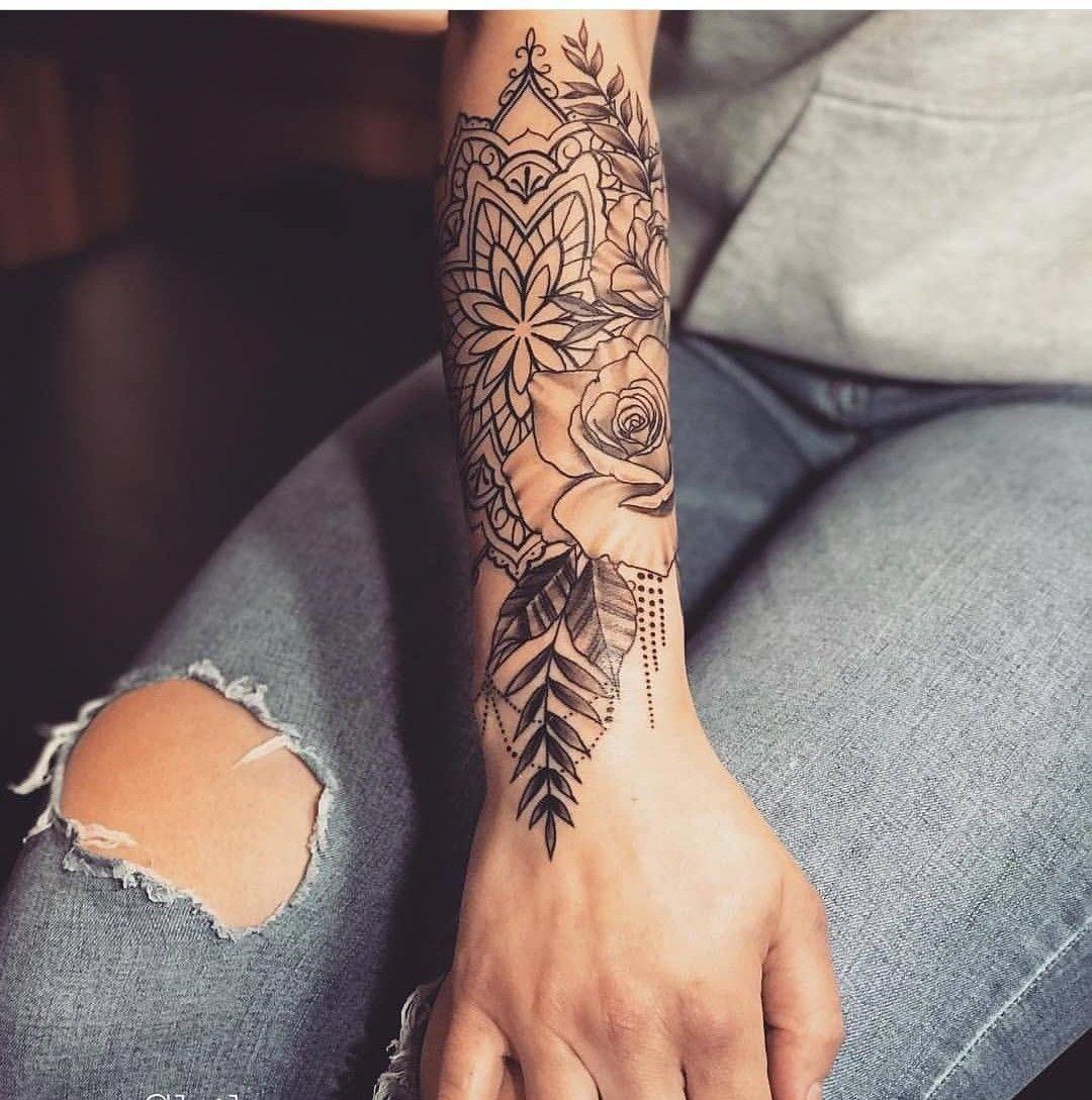 Half Sleeve Flower Mandala Tattoo Mandalatattoo Tattoo Sleeve Designs Sleeve Tattoos For Women Half Sleeve Tattoos Designs