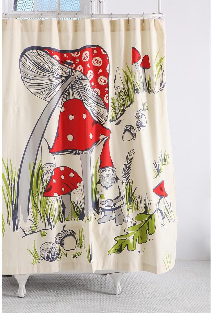Gnomes Shower Curtain Urban Outfitters Curtains Gnomes