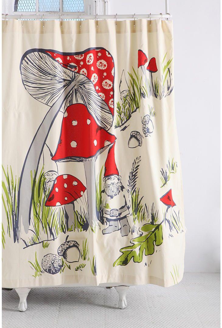 gnomes shower curtain urban